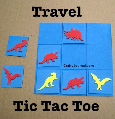 Craft Foam Travel Tic Tac Toe by Crafty Journal