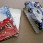 Decoupaged Christmas Card Box