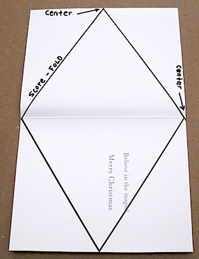 Gift box patterns for Triangle packaging template