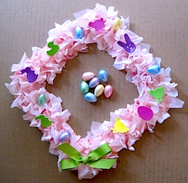 Paper Plate Easter Wreath - Crafty Journal