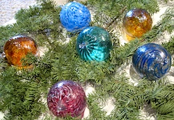 glass blown ornament