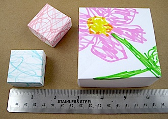 Origami Box Using Kids Art
