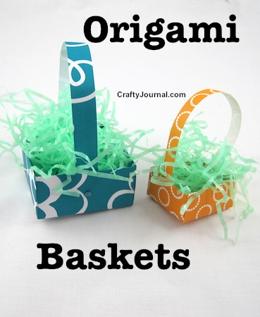 Origami Baskets by Crafty Journal