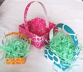 Paper easter basket crafts origami basket negle Image collections