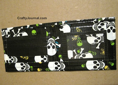 Skull Duct Tape Wallet - Crafty Journal