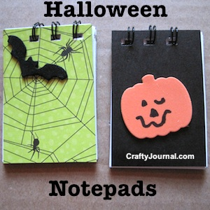 Haunting Halloween Notepads by Crafty Journal