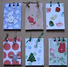 handmade christmas notepads