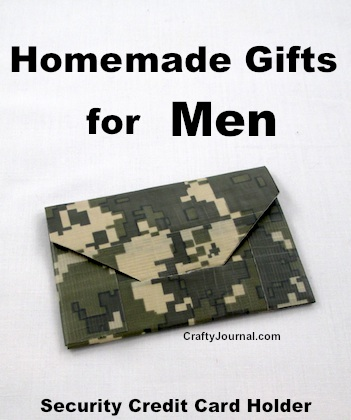 Homemade Gifts for Men by Crafty Journal