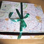 Map Covered Gift Box