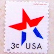 Patriotic Postage Stamp Magnet - Crafty Journal