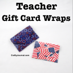 Teacher Gift Card Wraps