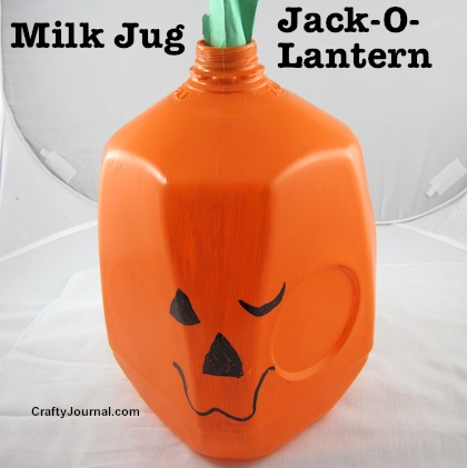 Milk Jug Jack-O-Lantern by Crafty Journal