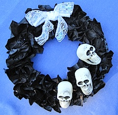Crafty Journal - Skull Wreath