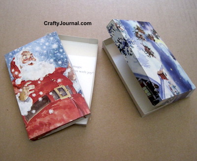 Christmas Card Boxes by Crafty Journal