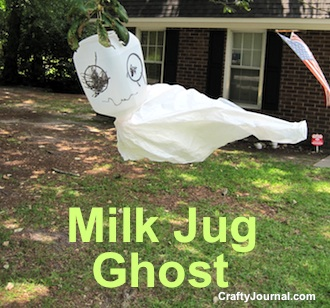 Cute Milk Jug Ghost by Crafty Journal