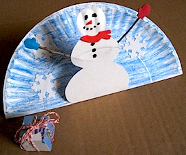 Craft Ideas Acorns on Preschool Crafts For Kids   Stand Up Snowman Paper Plate Craft