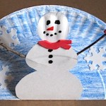 Paper Plate Pop Up Snowman