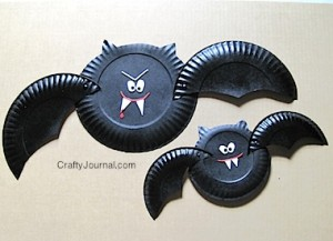 Crafty Journal - Paper Plate Vampire Bat