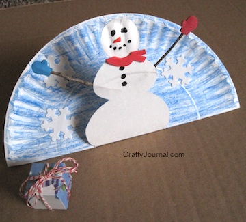 Paper Plate Pop Up Snowman by Crafty Journal