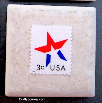 Crafty Journal - Patriotic Postage Stamp Magnet