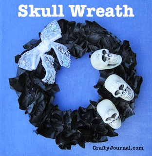Skull Wreath by Crafty Journal