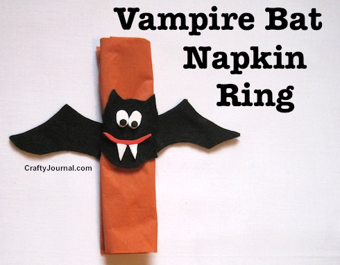 Vampire Bat Napkin Ring by Crafty Journal