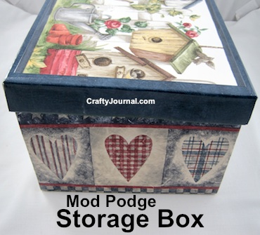 mod podge storage box