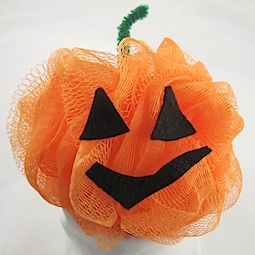 Crafty Journal - Jack O Lantern Bath Pouf