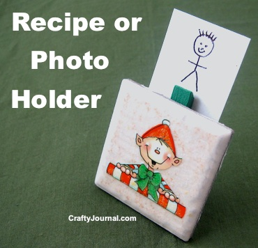 Recipe / Photo Holder by Crafty Journal