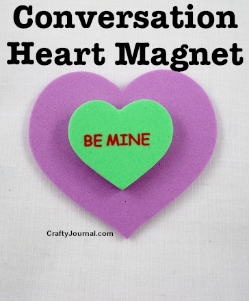 Conversation Heart Magnet by Crafty Journal