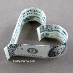 Easy Dollar Bill Heart
