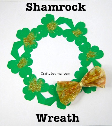 Shamrock Wreath by Crafty Journal
