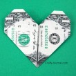 Crafty Journal - Super Easy Dollar Bill Heart