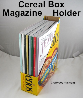 Cereal box magazine holder 019wg cereal box magazine holder by crafty journal ccuart