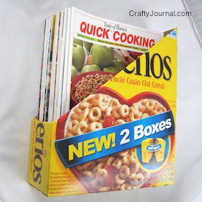 Cereal box magazine holder cereal box magazine holder by crafty journal ccuart Images