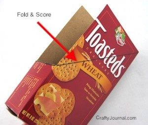 Crafty Journal - Cereal Box Magazine Holder
