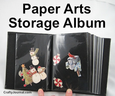 Paper Arts Storage Album by Crafty Journal