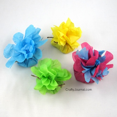 Crafty Journal - Tissue Paper Flower Favors