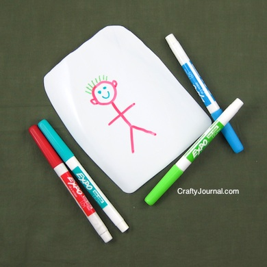Crafty Journal - Milk Jug Dry Erase Board