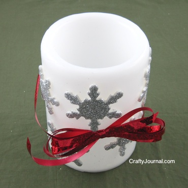 Crafty Journal - Snowflake Candle