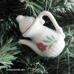 Crafty Journal - Tea Set Ornaments