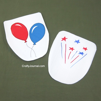 Crafty Journal - 4th of July Fan