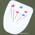 4th of July Fan from a Milk Jug