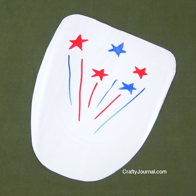 Crafty Journal - Milk Jug 4th of July Fan