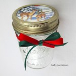 Christmas Card Gift Jar