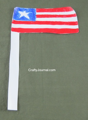 Crafty Journal - Milk Jug Flag
