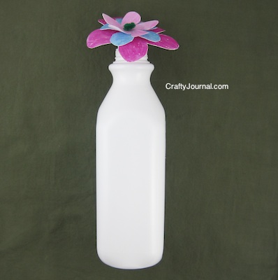 Crafty Journal - Milk Jug Flower