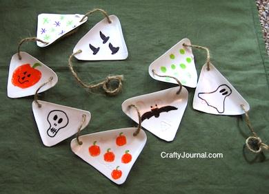 Crafty Journal - Milk Jug Garland