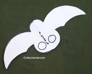 Crafty Journal - Bat Finger Puppet