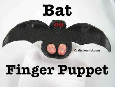 Create a fun Bat Finger Puppet by Crafty Journal.
